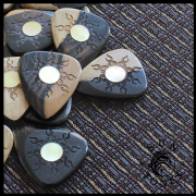 Sun Tones - Malay Ebony - 1 Guitar Pick | Timber Tones